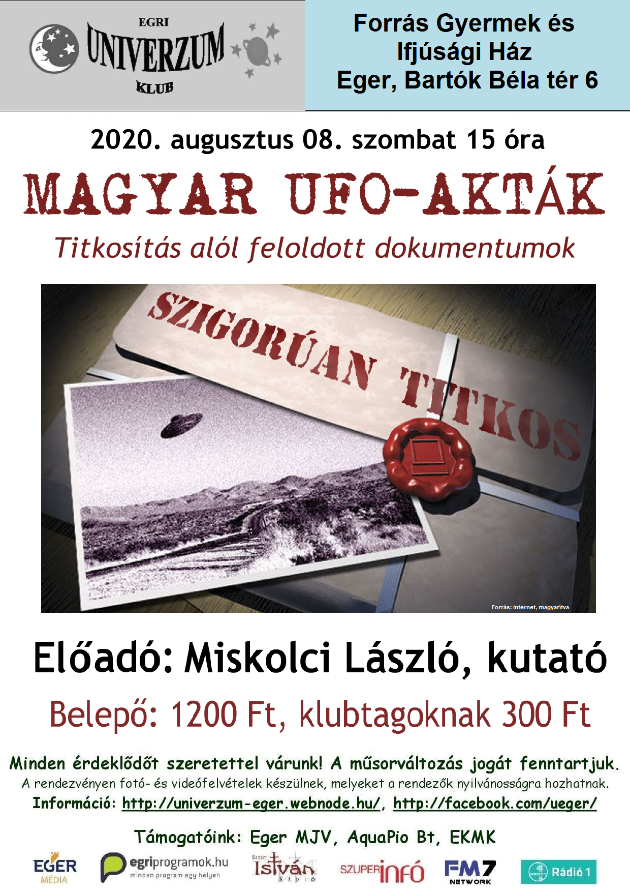 2020. augusztus 08. – Magyar UFO-Akták